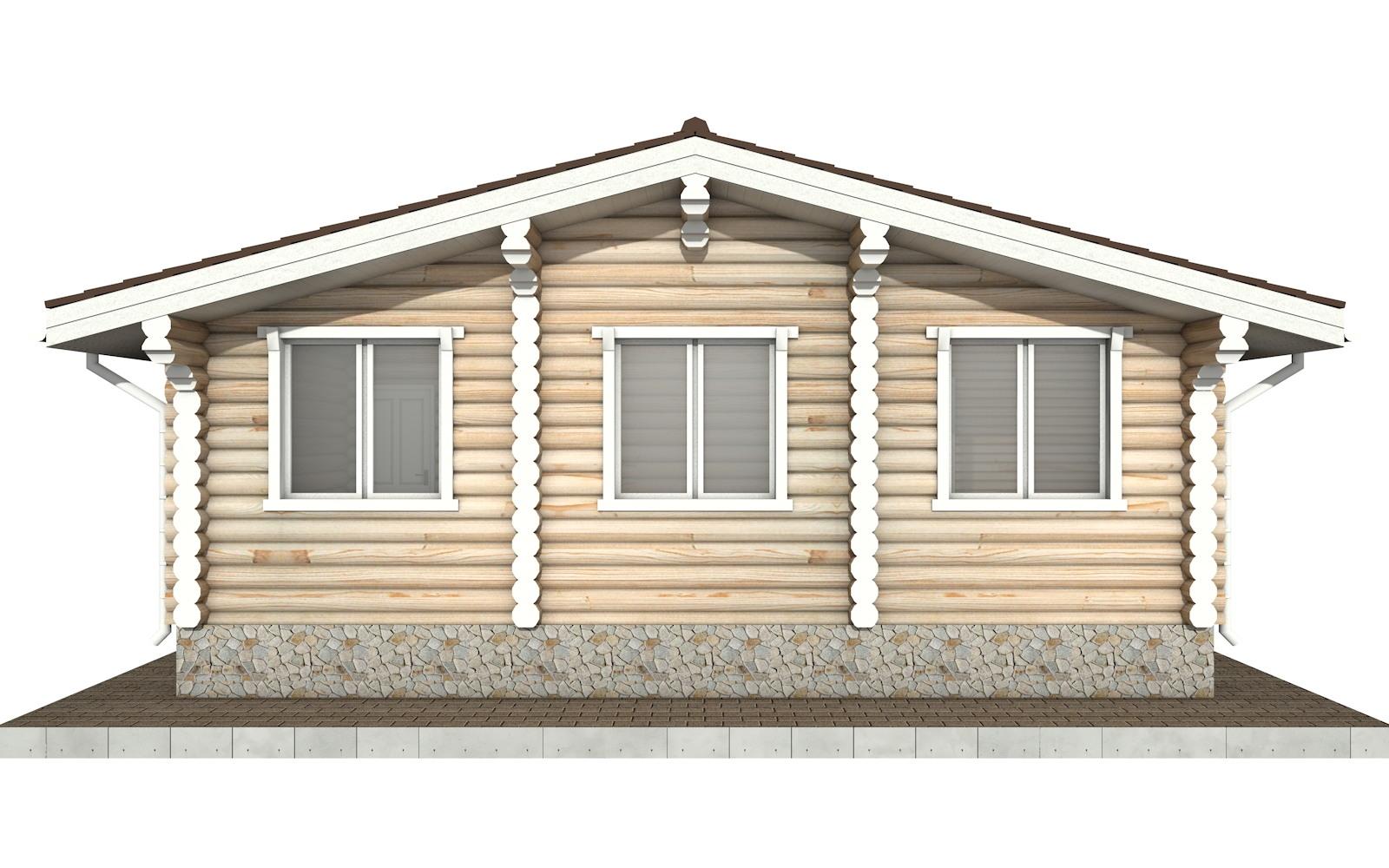 Фото #7: Красивый деревянный дом РС-76 из бревна