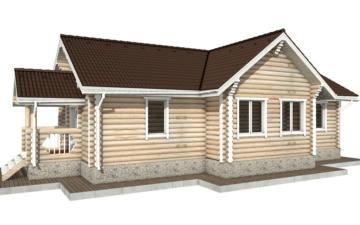 Фото #6: Красивый деревянный дом РС-77 из бревна