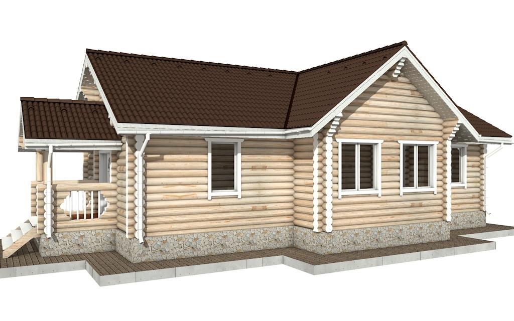 Фото #4: Красивый деревянный дом РС-77 из бревна