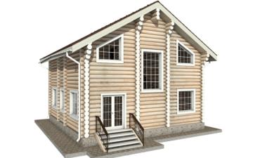 Фото #6: Красивый деревянный дом РС-8 из бревна