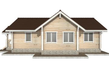 Фото #9: Красивый деревянный дом РС-77 из бревна