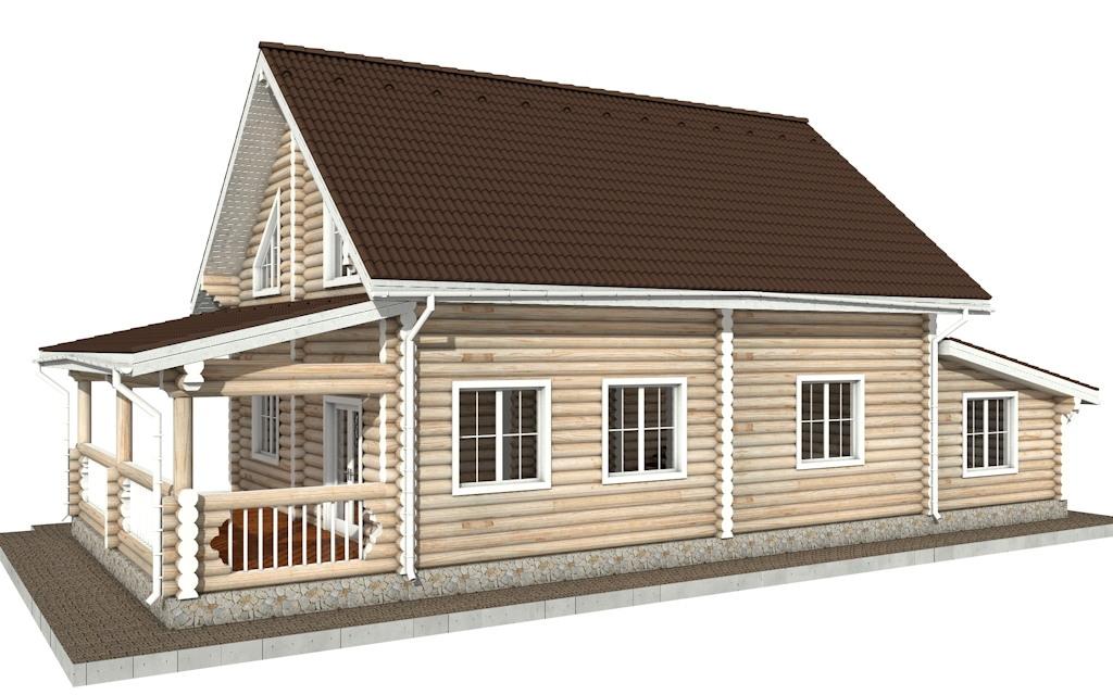 Фото #3: Красивый деревянный дом РС-78 из бревна