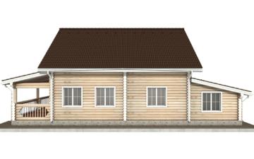 Фото #9: Красивый деревянный дом РС-78 из бревна