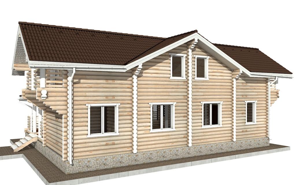 Фото #3: Красивый деревянный дом РС-79 из бревна