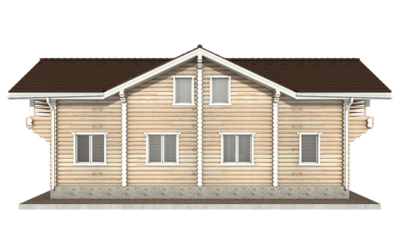 Фото #8: Красивый деревянный дом РС-79 из бревна