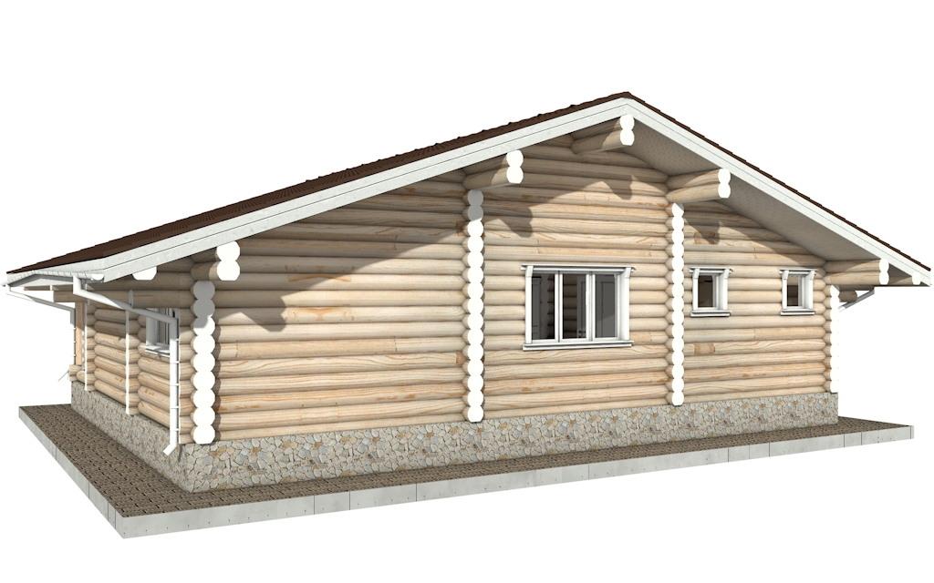 Фото #3: Красивый деревянный дом РС-80 из бревна