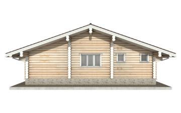 Фото #9: Красивый деревянный дом РС-80 из бревна