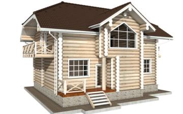 Фото #3: Красивый деревянный дом РС-81 из бревна
