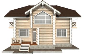 Фото #9: Красивый деревянный дом РС-81 из бревна