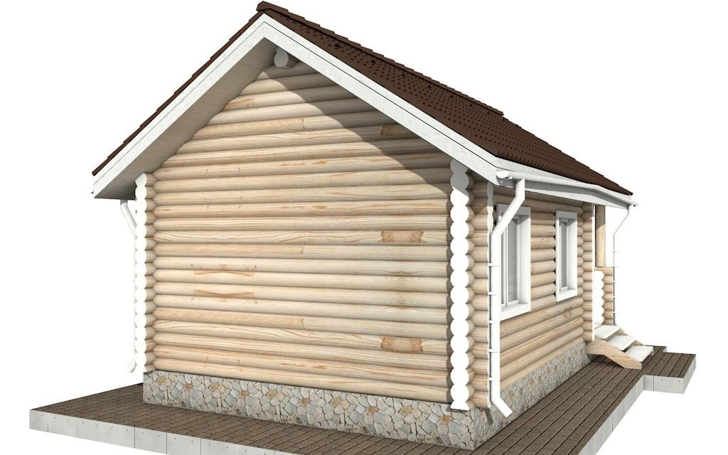 Фото #4: Красивый деревянный дом РС-82 из бревна