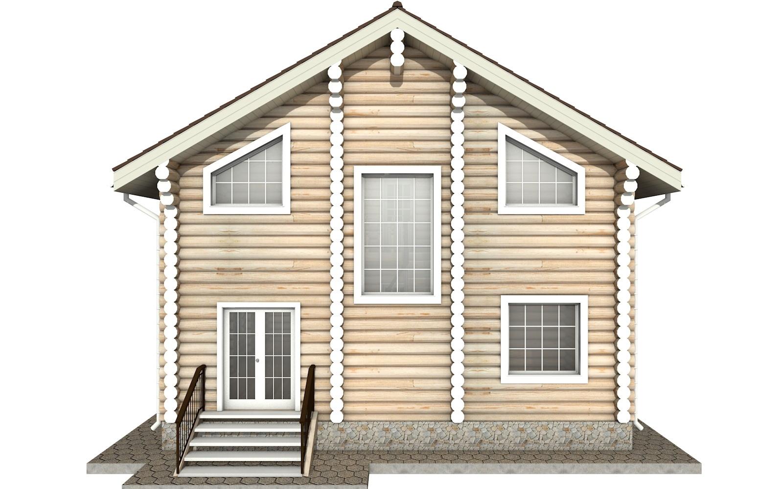 Фото #8: Красивый деревянный дом РС-8 из бревна