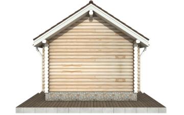 Фото #9: Красивый деревянный дом РС-82 из бревна