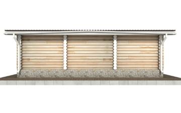 Фото #9: Красивый деревянный дом РС-83 из бревна