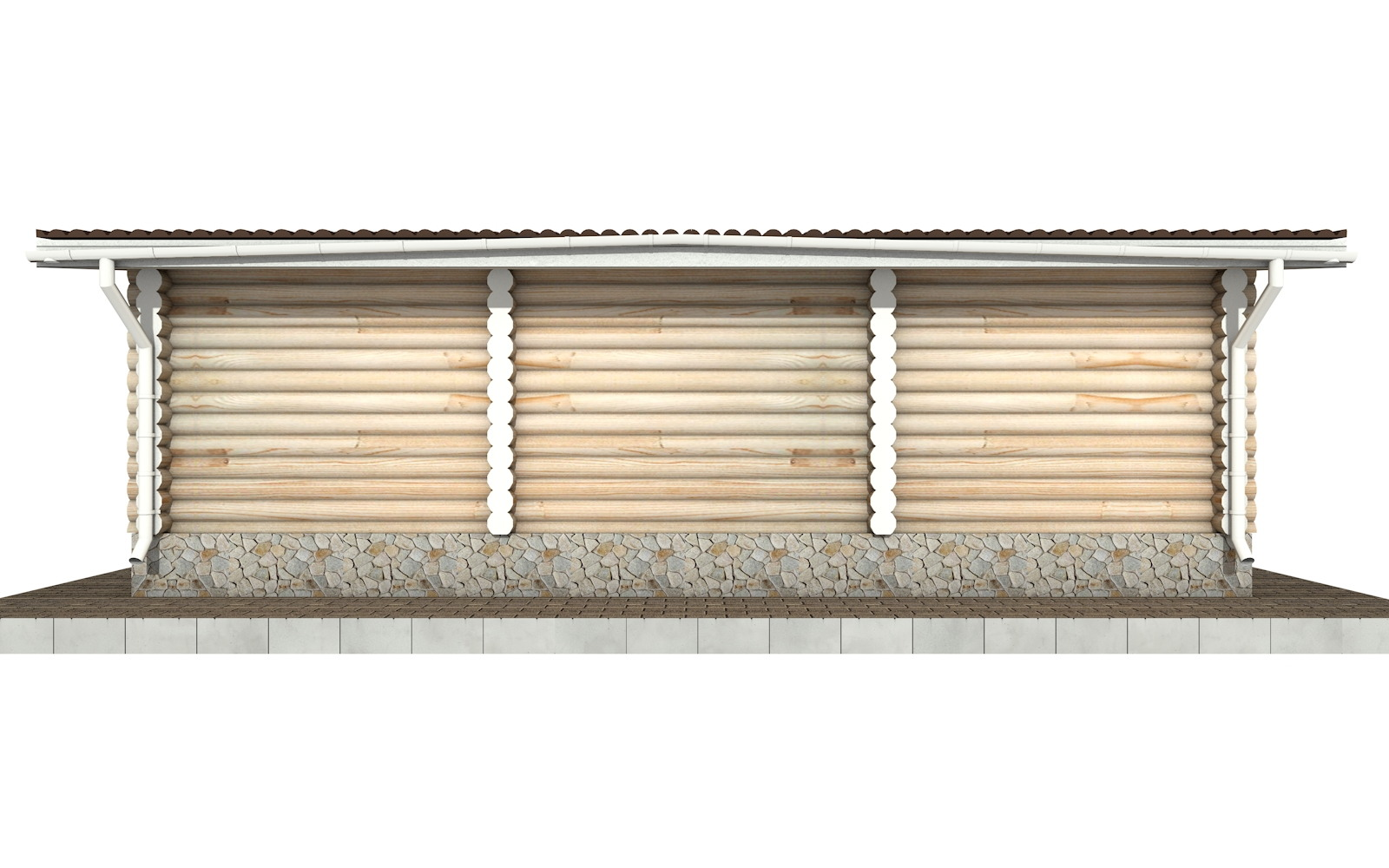 Фото #7: Красивый деревянный дом РС-83 из бревна