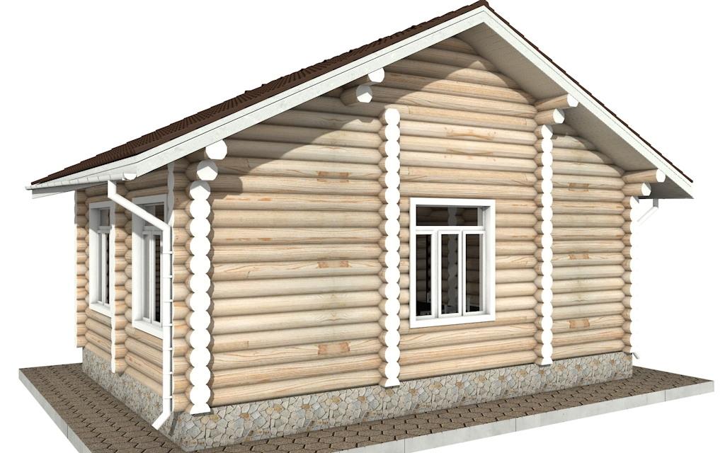 Фото #4: Красивый деревянный дом РС-84 из бревна