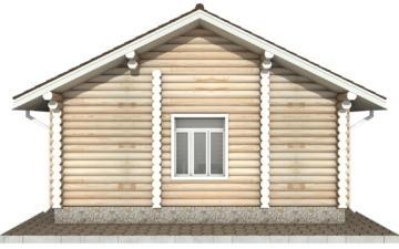 Фото #9: Красивый деревянный дом РС-84 из бревна