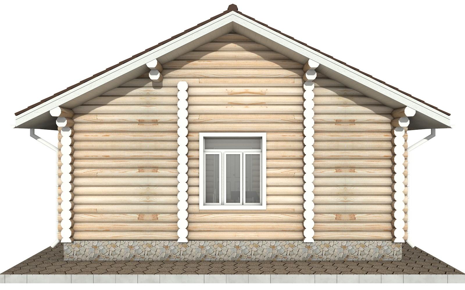 Фото #7: Красивый деревянный дом РС-84 из бревна