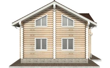 Фото #9: Красивый деревянный дом РС-86 из бревна