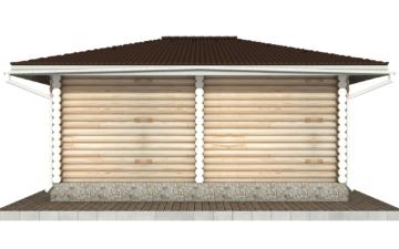 Фото #9: Красивый деревянный дом РС-89 из бревна