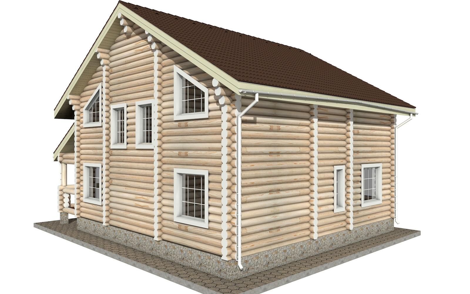 Фото #2: Красивый деревянный дом РС-9 из бревна