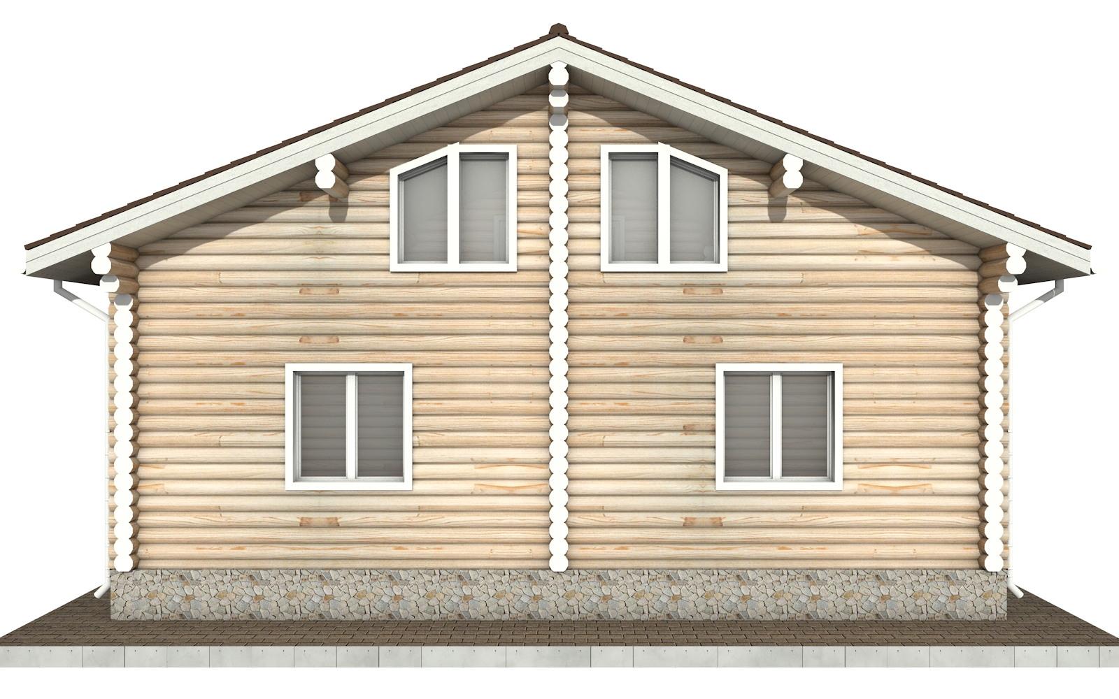Фото #8: Красивый деревянный дом РС-91 из бревна