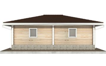 Фото #9: Красивый деревянный дом РС-96 из бревна