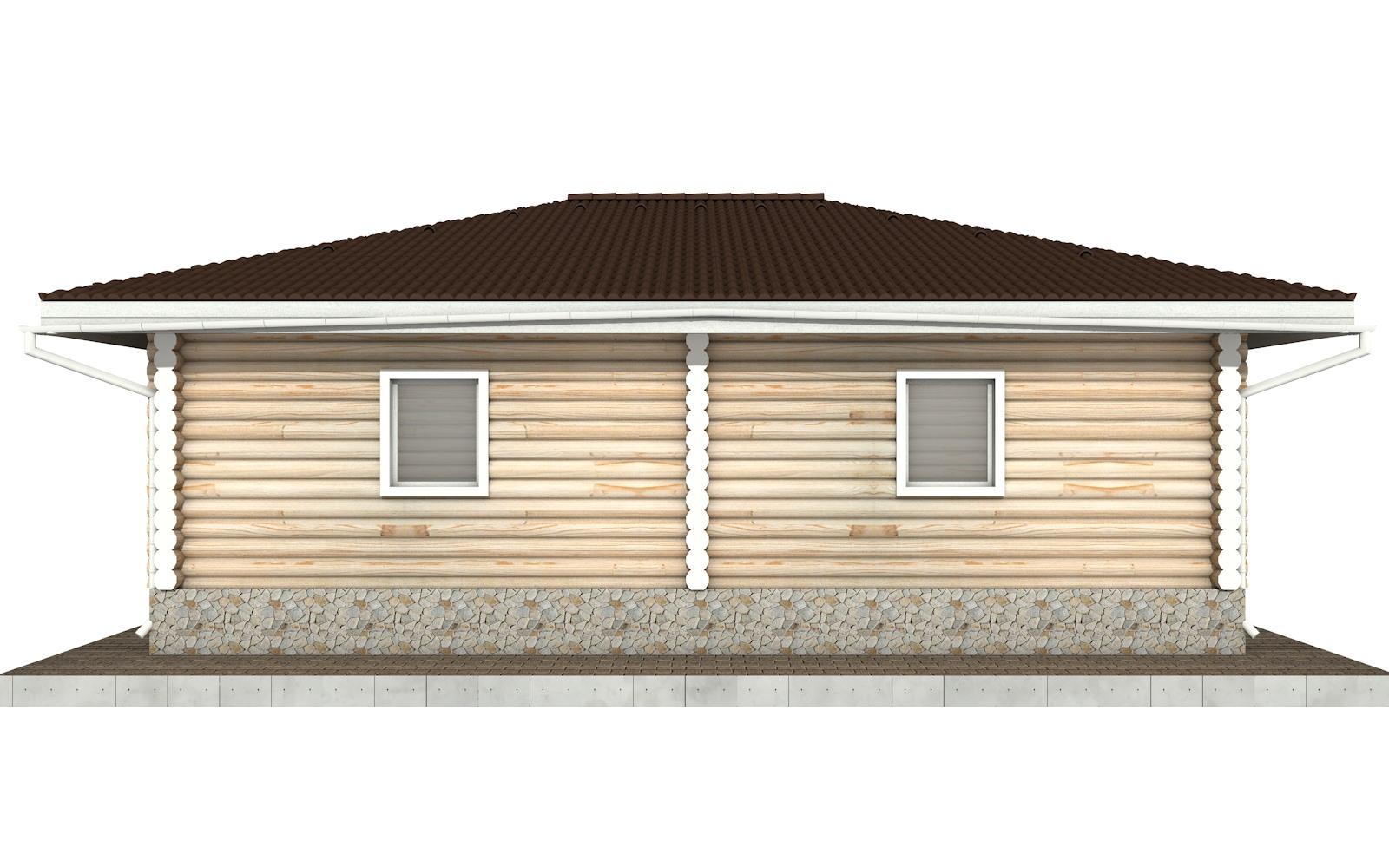 Фото #7: Красивый деревянный дом РС-96 из бревна