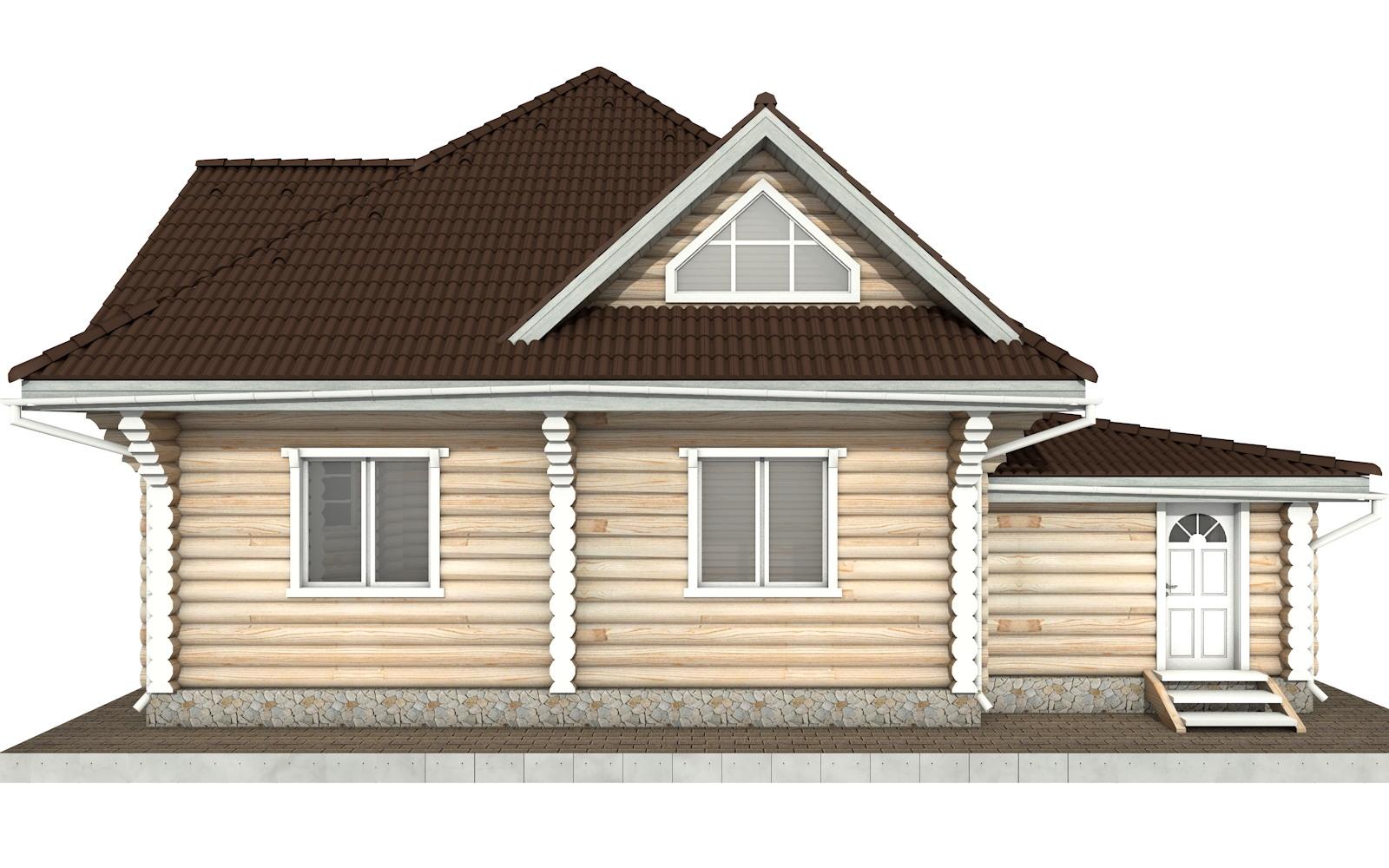 Фото #8: Красивый деревянный дом РС-97 из бревна