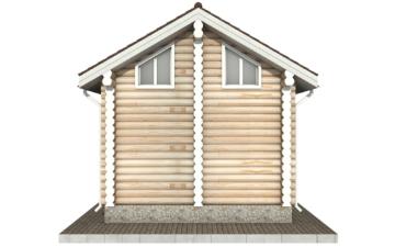 Фото #9: Красивый деревянный дом РС-98 из бревна