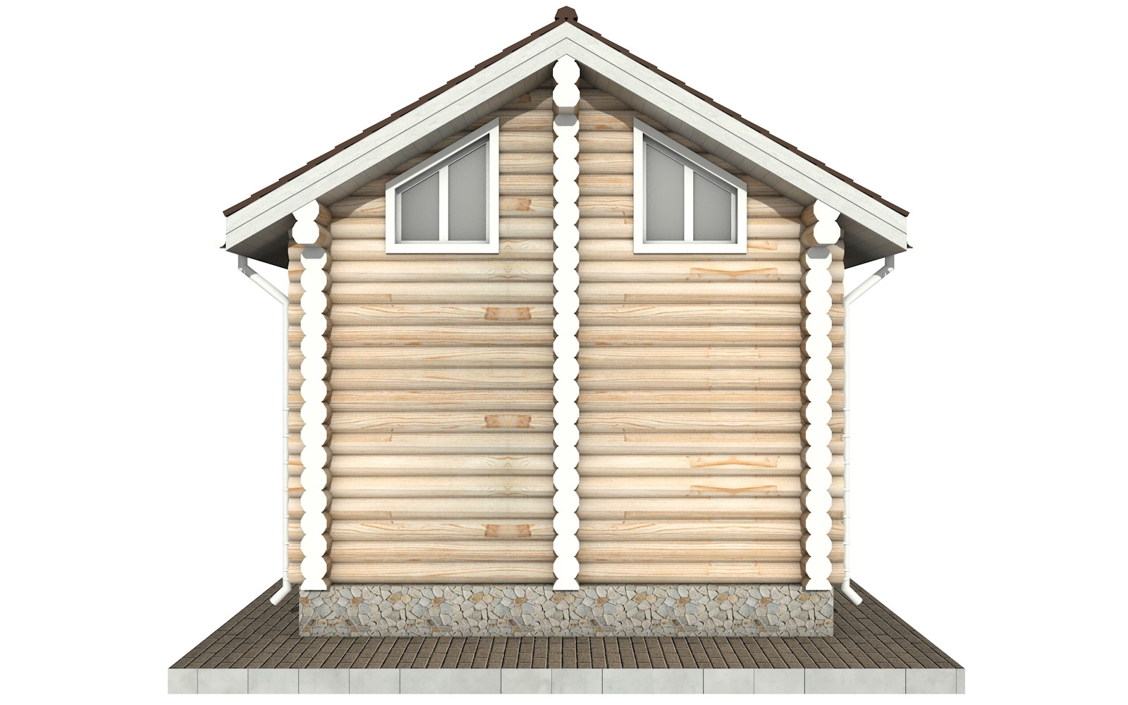 Фото #8: Красивый деревянный дом РС-98 из бревна