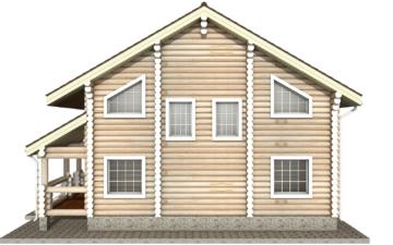 Фото #9: Красивый деревянный дом РС-9 из бревна