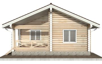 Фото #9: Красивый деревянный дом РС-102 из бревна