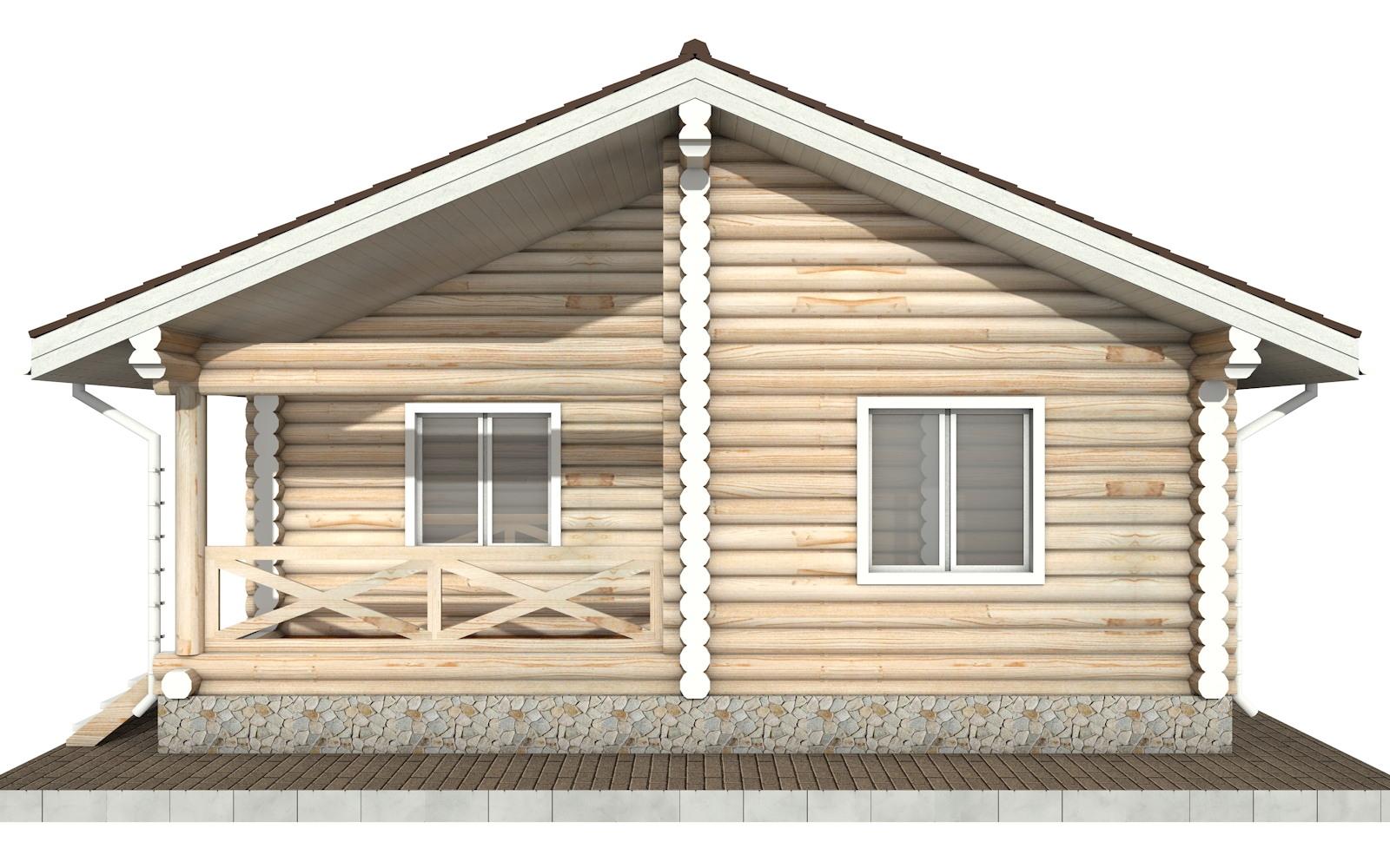 Фото #7: Красивый деревянный дом РС-102 из бревна