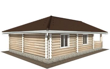Фото #3: Красивый деревянный дом РС-103 из бревна