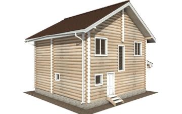 Фото #6: Красивый деревянный дом РС-104 из бревна