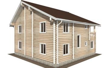 Фото #6: Красивый деревянный дом РС-105 из бревна