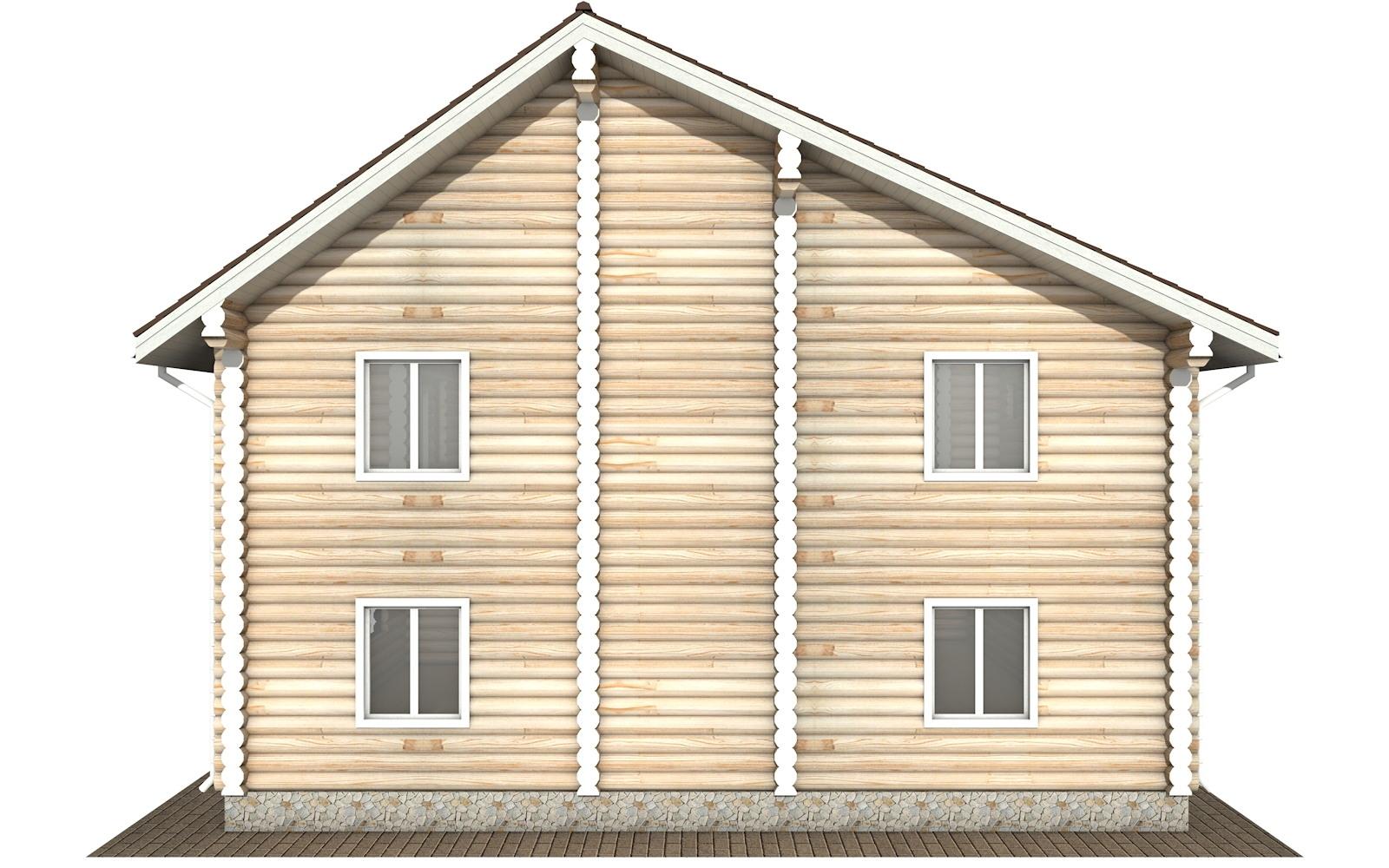 Фото #8: Красивый деревянный дом РС-105 из бревна