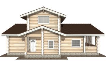 Фото #9: Красивый деревянный дом РС-106 из бревна