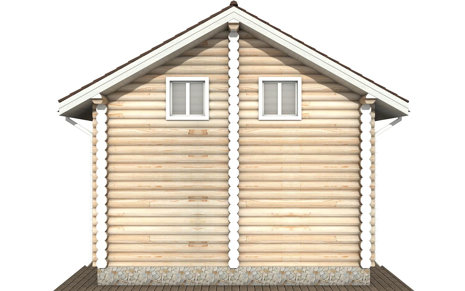 Фото #8: Красивый деревянный дом РС-107 из бревна
