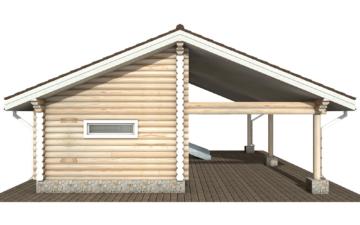 Фото #9: Красивый деревянный дом РС-108 из бревна