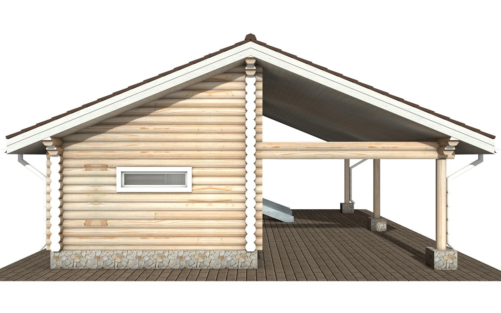 Фото #7: Красивый деревянный дом РС-108 из бревна
