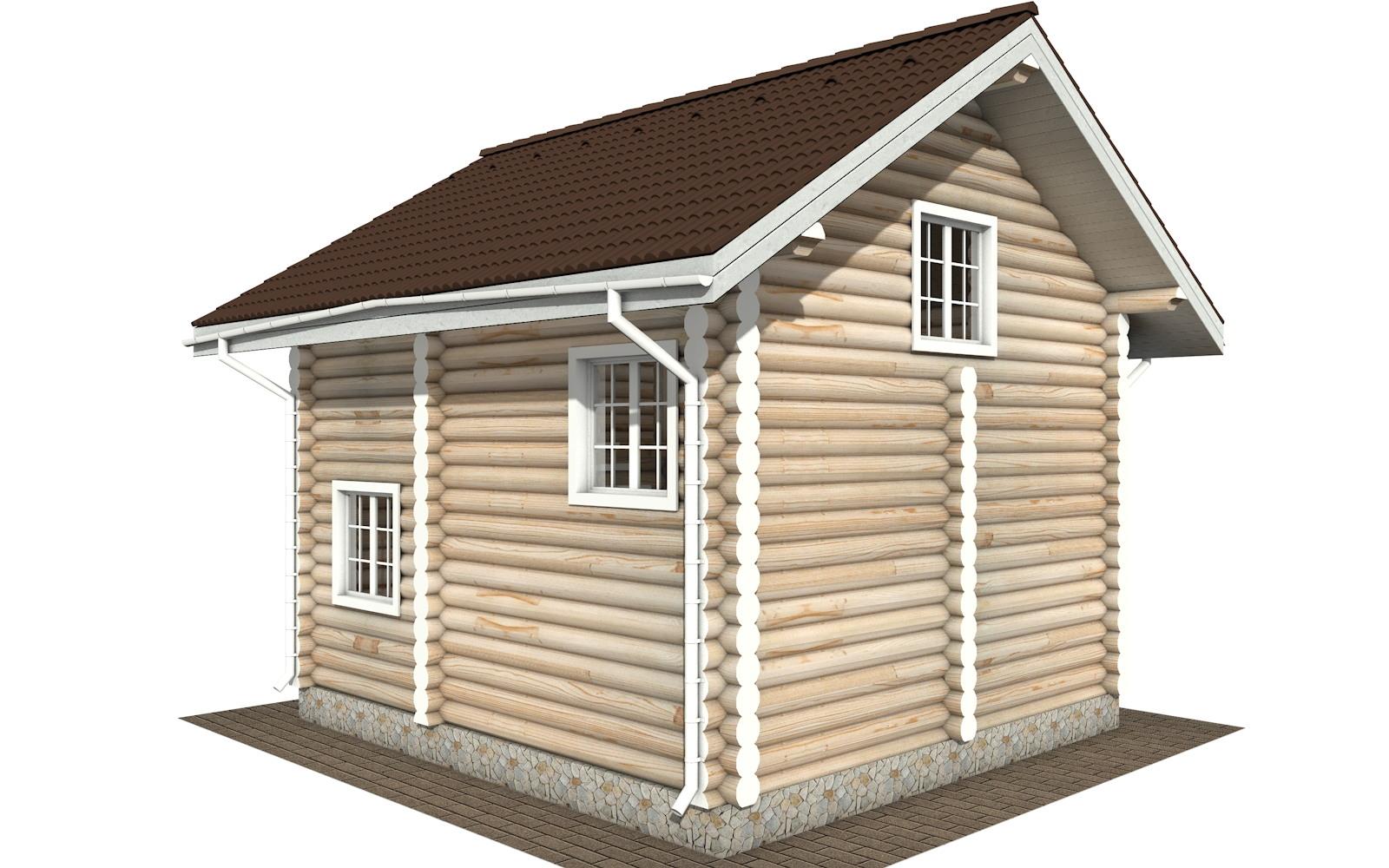 Фото #5: Красивый деревянный дом РС-109 из бревна
