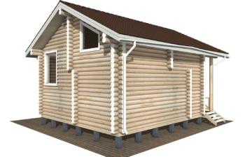 Фото #3: Красивый деревянный дом РС-110 из бревна