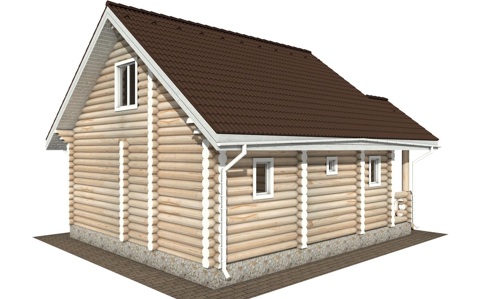 Фото #5: Красивый деревянный дом РС-111 из бревна