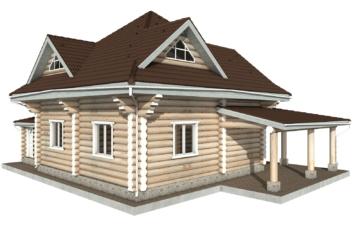 Фото #6: Красивый деревянный дом РС-112 из бревна