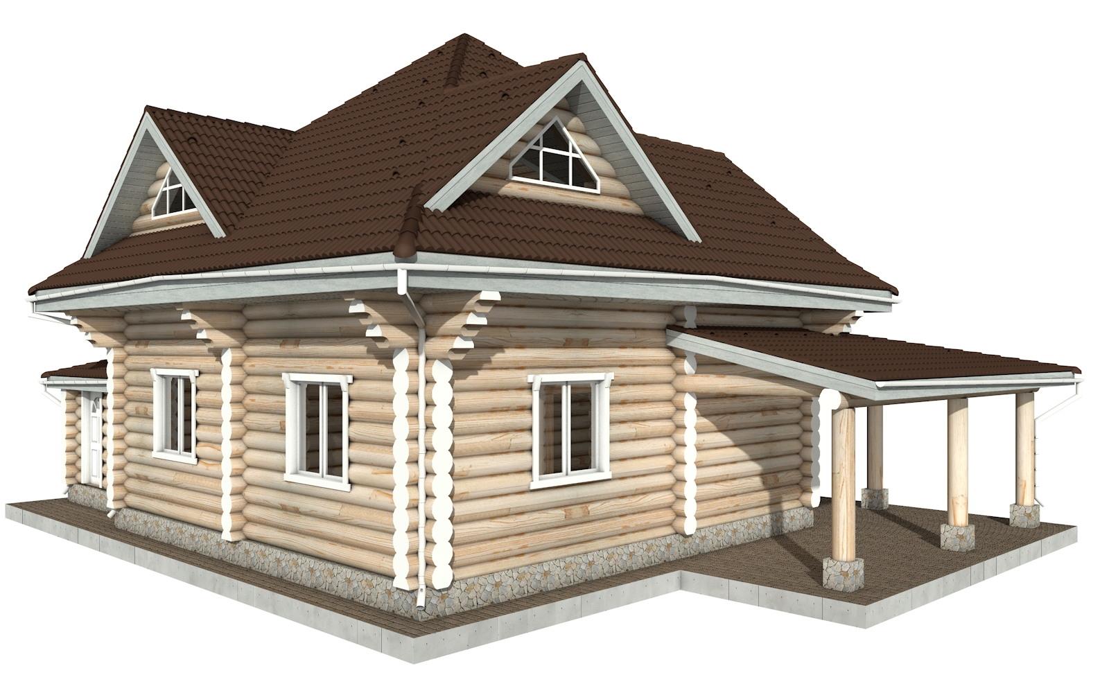 Фото #5: Красивый деревянный дом РС-112 из бревна
