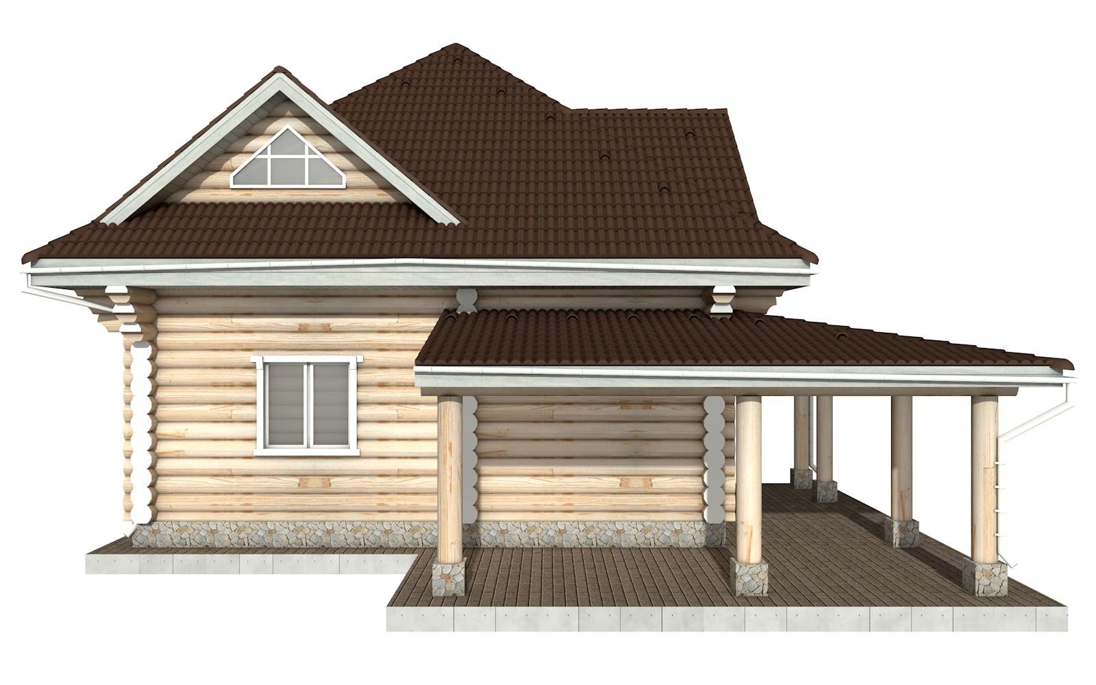 Фото #8: Красивый деревянный дом РС-112 из бревна
