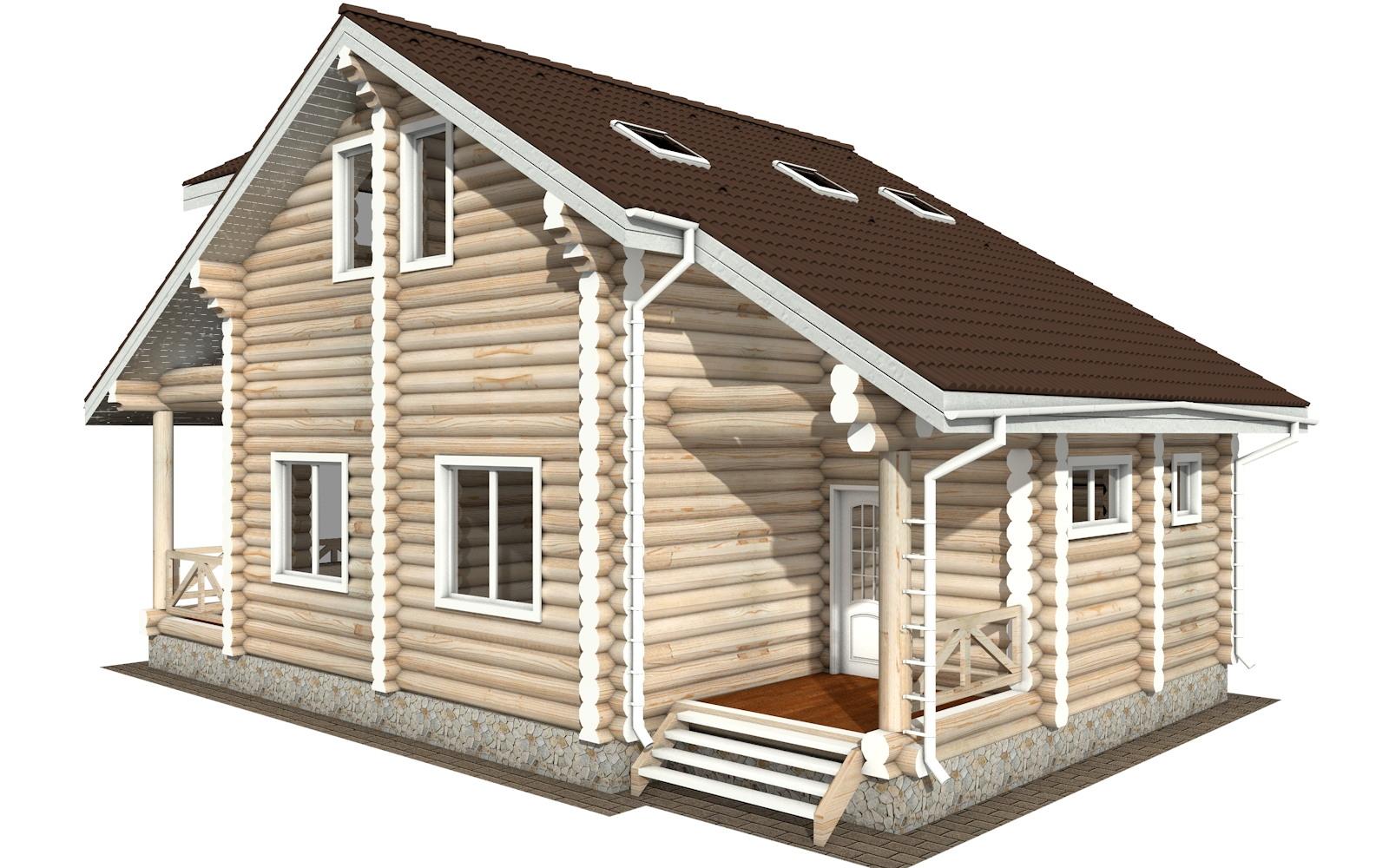 Фото #5: Красивый деревянный дом РС-113 из бревна