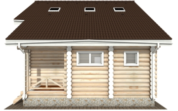 Фото #9: Красивый деревянный дом РС-113 из бревна