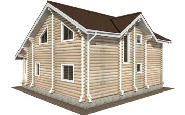 Фото #6: Красивый деревянный дом РС-114 из бревна